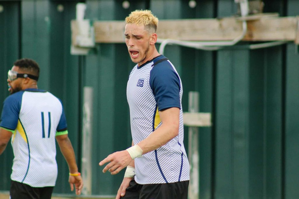 Shawn Clark at rugby match vs New Orleans RFC
